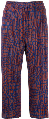 Pleats Please Issey Miyake dotted culottes
