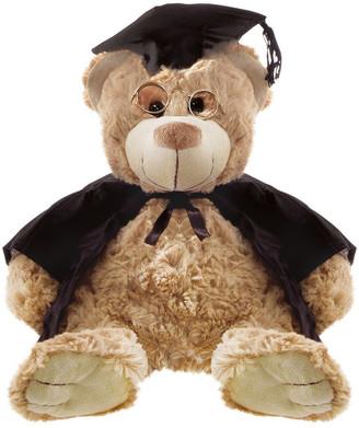 Teddy and Friends Rosie Bear Graduation Brown w' Glasses 32cm