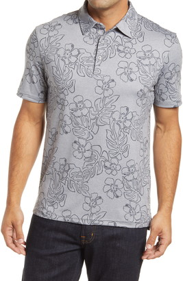 Reyn Spooner Hibiscus Monstera Tropical Short Sleeve Polo