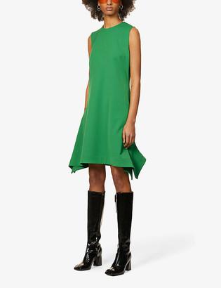 Victoria Victoria Beckham Asymmetric-hem sleeveless woven midi dress