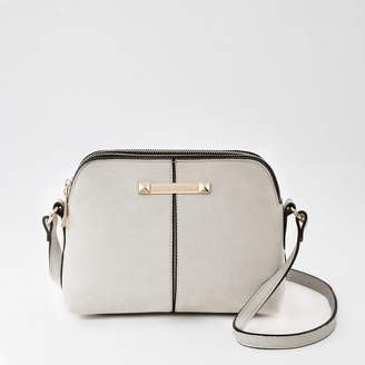 River Island Grey double compartment cross body bag