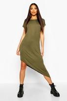 boohoo Maya Asymmetric T-Shirt Midi Dress