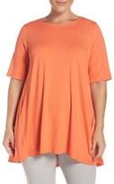 Eileen Fisher Round Neck Lightweight Jersey Top (Plus Size)