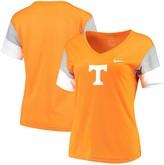 Nike Women's Tennessee Orange/Gray Tennessee Volunteers Breathe Team Sleeve Performance V-Neck T-Shirt
