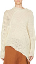 Stella McCartney Asymmetric Open-Weave Sweater, Ivory