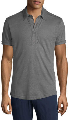 Orlebar Brown Men's Sebastian Tailored Linen Polo Shirt