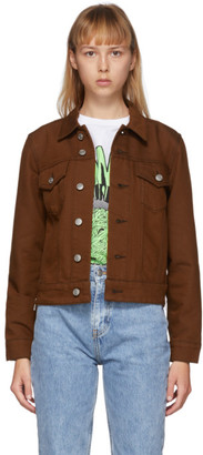 Ganni Brown Denim Mixed Jacket
