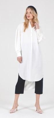 Jovonna London White Goa Long Twisted Back Dress - S/M