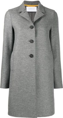 Harris Wharf London Single Breasted Virgin Wool Coat