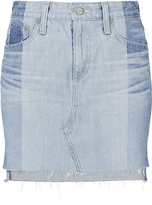 AG Jeans Sandy Two-Tone Mini Skirt