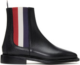Thom Browne Black and Tricolor Chelsea Boots