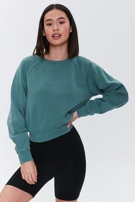 Forever 21 Fleece Raglan Sweatshirt