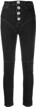 Alessandra Rich cropped skinny jeans