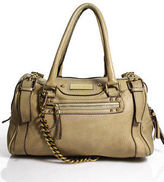 Dolce & Gabbana Tan Leather Zipper Top Double Handle Satchel Handbag