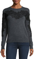 philosophy Lace-Applique Pullover Sweater, Gray
