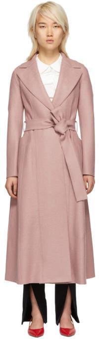 Harris Wharf London Pink Wool Long Duster Coat