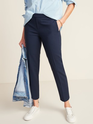 Old Navy Mid-Rise Straight Pull-On Ankle Pants for Women