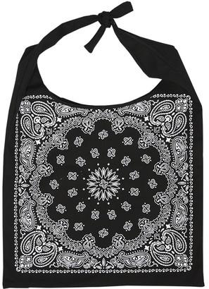 Ella & Elly Women's Totebags Black - Black Scarf Print Tie Tote