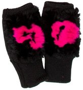 Jocelyn Fur-Trimmed Fingerless Gloves w/ Tags