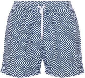 Frescobol Carioca Angra print swim shorts