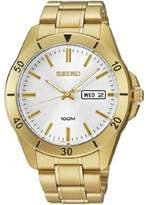 Seiko Men's SGGA84 Gold Stainless-Steel Quartz Watch with Silver Dial
