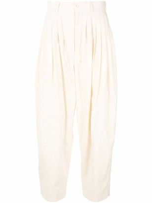 Hed Mayner High-Waist Linen Trousers