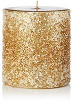Bloomingdale's Gold Beaded Pillar Candle - 100% Exclusive