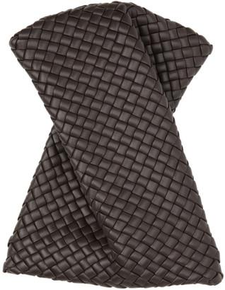 Bottega Veneta Brown Intrecciato Bow Tie Clutch