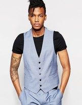 Rudie Slim Fit Light Blue Occasion Waistcoat