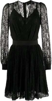 Philipp Plein V-neck lace dress