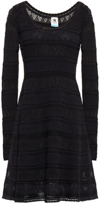 M Missoni Pointelle-knit Cotton-blend Mini Dress