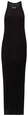 Rick Owens Round-neck Ribbed-jersey Dress - Black