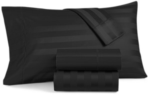 "Charter Club Damask 1.5"" Stripe Twin Xl 3-Pc Sheet Set, 550 Thread Count 100% Supima Cotton, Created for Macy's Bedding"
