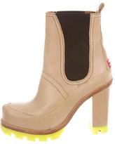 Hunter Leather Platform Ankle Boots