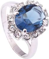 Acefeel 18k White Gold Plated Oval Crystal Ring For Women Mother's Day Gift R090