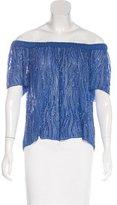 Parker Embellished Short Sleeve Blouse w/ Tags