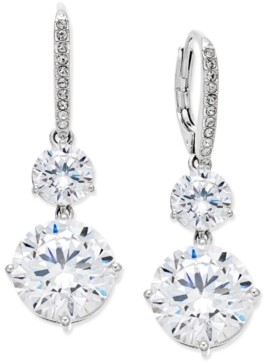 Eliot Danori Silver-Tone Crystal Double Drop Earrings, Created for Macy's