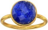 Dee Berkley Single Round Stone Adjustable Ring Dyed Sapphire