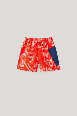 Cos Printed Shorts With Patch Pocket