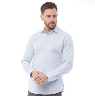 French Connection Mens Formal Plain Cut Shirt Soft Blue