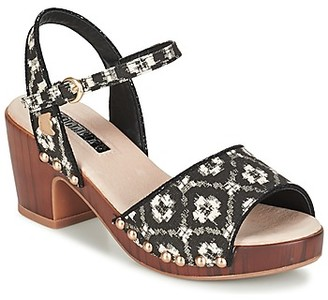 Lollipops ZOOM WOOD HEEL SANDAL women's Clogs (Shoes) in Black