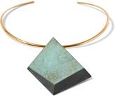 Tory Burch Gold-tone stone choker