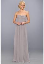Donna Morgan Strapless Chiffon Gown - Stephanie