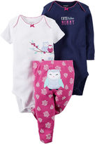Carter's 3-pc. Short-Sleeve Bodysuits & Pants Set - Baby Girls newborn-24m
