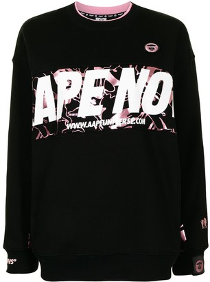 AAPE BY *A BATHING APE® Logo-Print Crew-Neck Sweatshirt