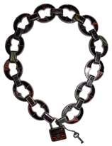 Bottega Veneta Sterling Pad Lock Necklace