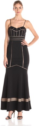 JS Collections Women's Long Dress with Trumpet Skirt