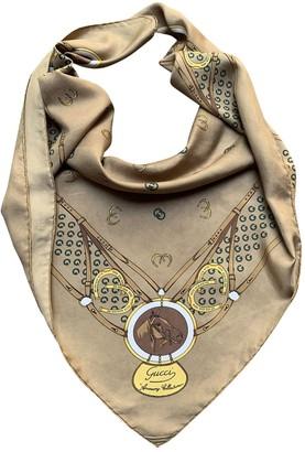 Gucci Camel Silk Scarves