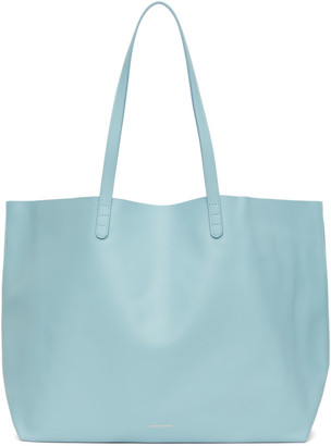 Mansur Gavriel Blue Leather Oversized Tote