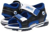 Armani Junior T8524 SP (Toddler/Little Kid) (Blue) - Footwear